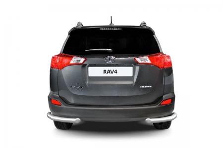 Защита заднего бампера угловая d63мм Toyota Rav 4 (нерж) 2013